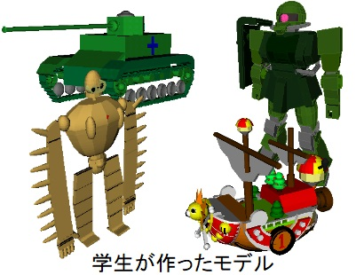 Sample models created by solid modeler